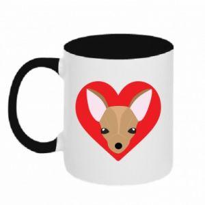 Two-toned mug A little dog