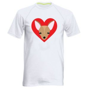 Men's sports t-shirt A little dog