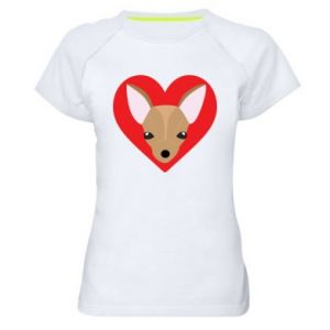 Women's sports t-shirt A little dog