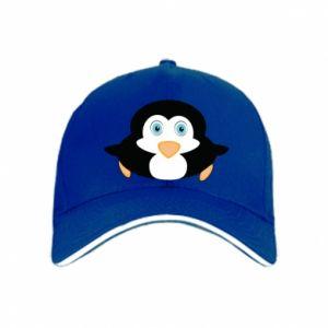 Cap Little penguin looks up