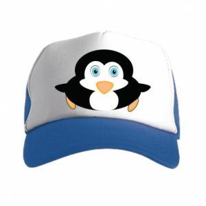 Czapka trucker Mały pingwin podnosi wzrok - PrintSalon