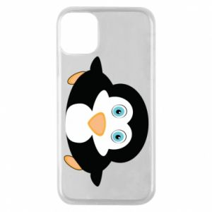 Phone case for iPhone 11 Pro Little penguin looks up