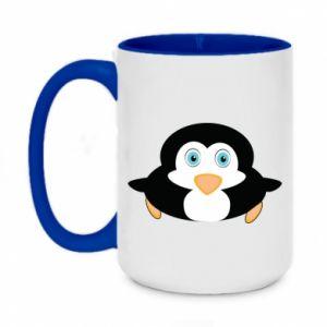 Two-toned mug 450ml Little penguin looks up