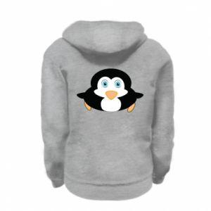 Bluza na zamek dziecięca Mały pingwin podnosi wzrok