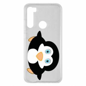 Etui na Xiaomi Redmi Note 8 Mały pingwin podnosi wzrok