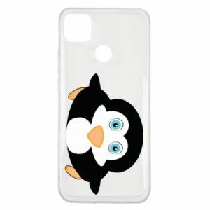 Etui na Xiaomi Redmi 9c Mały pingwin podnosi wzrok