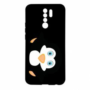 Etui na Xiaomi Redmi 9 Mały pingwin podnosi wzrok