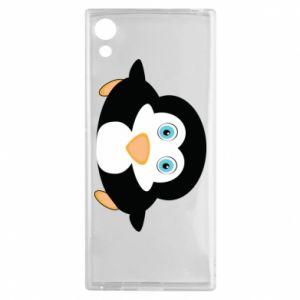 Etui na Sony Xperia XA1 Mały pingwin podnosi wzrok