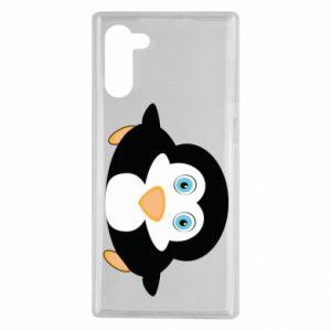 Etui na Samsung Note 10 Mały pingwin podnosi wzrok
