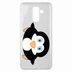 Etui na Samsung J8 2018 Mały pingwin podnosi wzrok