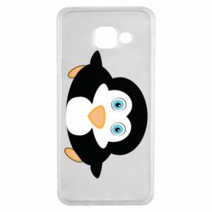 Etui na Samsung A3 2016 Mały pingwin podnosi wzrok