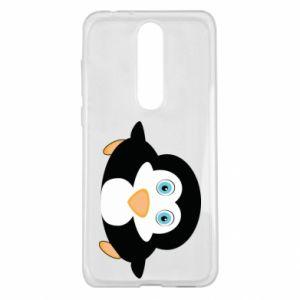 Etui na Nokia 5.1 Plus Mały pingwin podnosi wzrok
