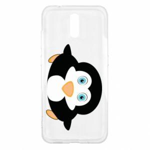 Etui na Nokia 2.3 Mały pingwin podnosi wzrok