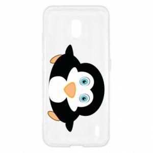 Etui na Nokia 2.2 Mały pingwin podnosi wzrok