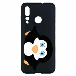 Etui na Huawei Nova 4 Mały pingwin podnosi wzrok