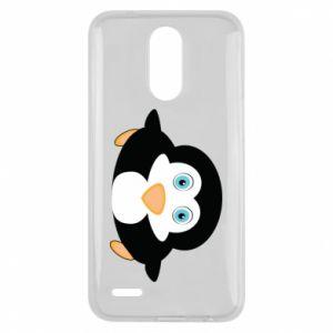 Etui na Lg K10 2017 Mały pingwin podnosi wzrok