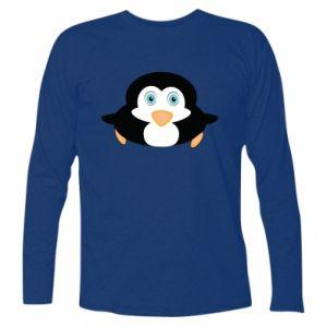 Koszulka z długim rękawem Mały pingwin podnosi wzrok