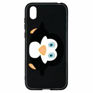 Etui na Huawei Y5 2019 Mały pingwin podnosi wzrok