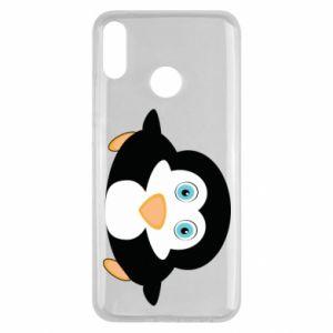 Etui na Huawei Y9 2019 Mały pingwin podnosi wzrok