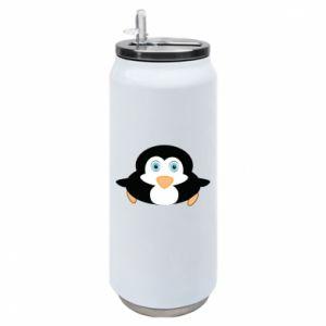 Puszka termiczna Mały pingwin podnosi wzrok