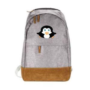 Miejski plecak Mały pingwin podnosi wzrok