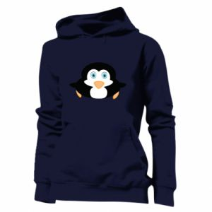 Women's hoodies Little penguin looks up