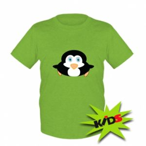 Dziecięcy T-shirt Mały pingwin podnosi wzrok