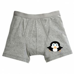 Boxer trunks Little penguin looks up
