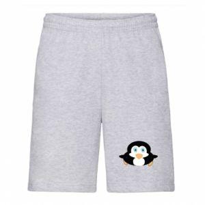 Męskie szorty Mały pingwin podnosi wzrok - PrintSalon
