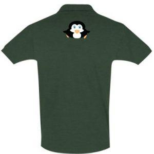 Men's Polo shirt Little penguin looks up