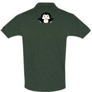 Koszulka Polo Mały pingwin podnosi wzrok - PrintSalon