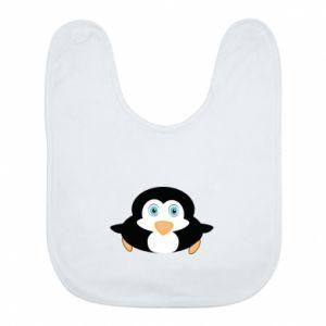 Śliniak Mały pingwin podnosi wzrok - PrintSalon