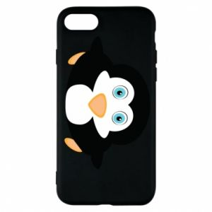 Phone case for iPhone 8 Little penguin looks up