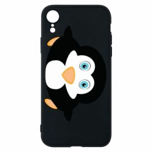 Phone case for iPhone XR Little penguin looks up