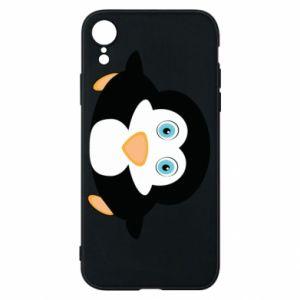 Etui na iPhone XR Mały pingwin podnosi wzrok