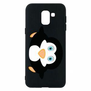 Phone case for Samsung J6 Little penguin looks up