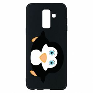 Phone case for Samsung A6+ 2018 Little penguin looks up