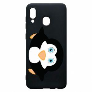 Etui na Samsung A30 Mały pingwin podnosi wzrok