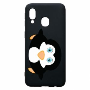 Phone case for Samsung A40 Little penguin looks up
