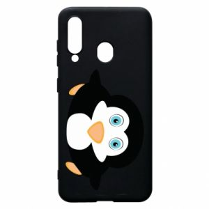 Phone case for Samsung A60 Little penguin looks up