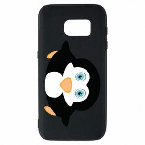 Phone case for Samsung S7 Little penguin looks up