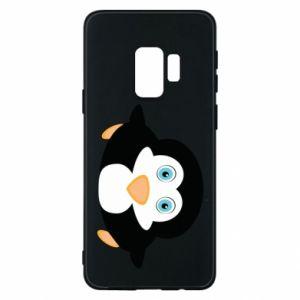 Etui na Samsung S9 Mały pingwin podnosi wzrok