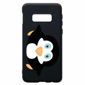 Phone case for Samsung S10e Little penguin looks up