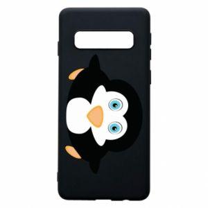 Phone case for Samsung S10 Little penguin looks up