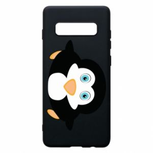 Etui na Samsung S10+ Mały pingwin podnosi wzrok