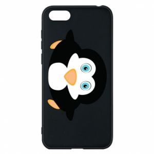 Phone case for Huawei Y5 2018 Little penguin looks up