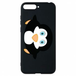 Phone case for Huawei Y6 2018 Little penguin looks up
