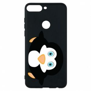 Phone case for Huawei Y7 Prime 2018 Little penguin looks up