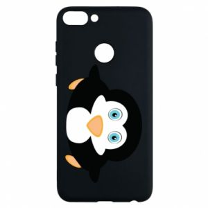Phone case for Huawei P Smart Little penguin looks up