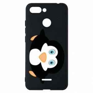 Phone case for Xiaomi Redmi 6 Little penguin looks up